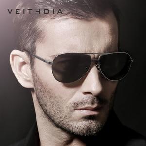 Image 5 - Veithdia óculos de sol masculino polarizado, óculos de sol vintage, polarizado, clássico, direção de lentes para homens e mulheres 2482