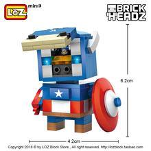 Authentic LOZ Mini-particle MINI Building Block Team Iron Man Assembly Toy Beautiful Blocks Spiderman Christmas