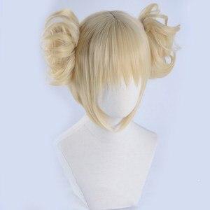 Image 3 - Peluca Boku no Hero Academia de My Hero Academia, Himiko Toga, Cosplay de estilo corto Rubio + gorro de peluca
