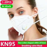 20PCS Protection masque KN95 Face N95 KF94 Mask Anti protection Mouth Cover Facial Dust Pm2.5 Ffp3 Fpp2 Respirator Face Masks