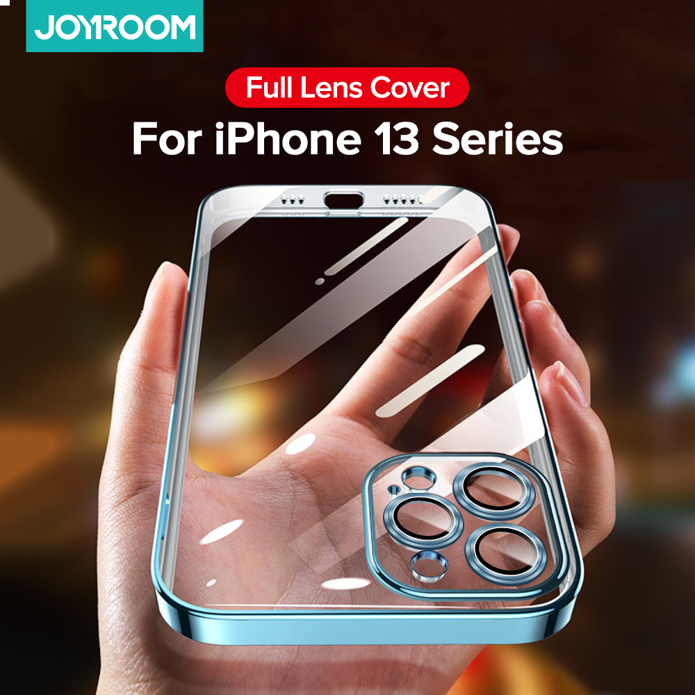 Joyroom Plating Case For iPhone 13 Pro Max Full Lens Cover Shockproof Soft TPU Cellphone Case Cover For iPhone 13 Pro Max