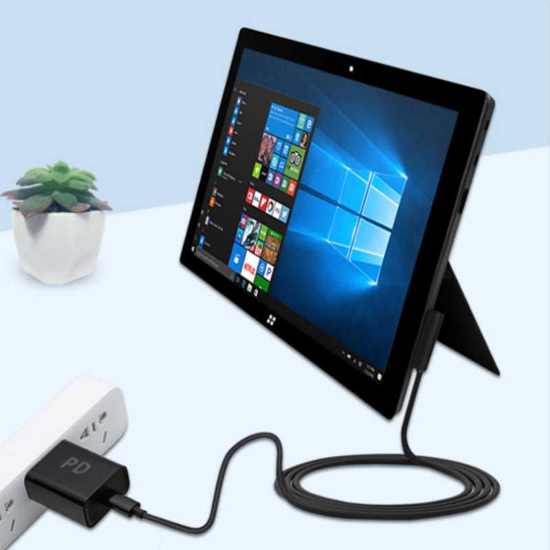 USB tipo C fuente de alimentación cargador adaptador Cable de carga para Microsoft Surface Pro 1/2 12V PD carga