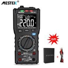 MESTEK DM100 דיגיטלי מודד במהירות גבוהה חכם כפול ליבה T rms NCV טמפרטורת multimetro אנטי לשרוף נתיך מעורר multimeters