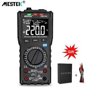 Image 1 - Mestek multímetro digital dm100, multímetro digital de alta velocidade inteligente, duplo núcleo t rms ncv, alarme de temperatura multímetros