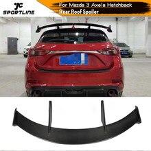 Becquet de toit arrière en Fiber de carbone FRP, aileron de fenêtre pour Mazda 3 Axela Hatchback 2014 – 2019