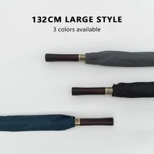 Parasol Golf-Umbrella Wooden-Handle Large Windproof Rain Business-132cm Travel Vintage