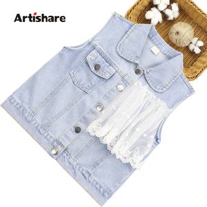 Vest For Children 2021 Newest Baby Girls Denim Vest 2021 Waistcoat Autumn Outerwear Kids Girls Clothes