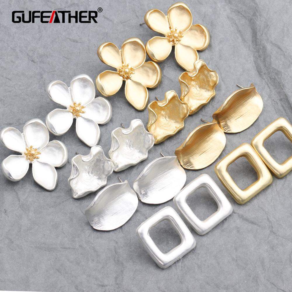 GUFEATHER M596,jewelry Accessories,stud Earring,diy Alloy Pendant,hand Made,diy Earring Accessories,jewelry Making,10pcs/lot