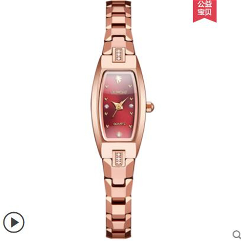 New Brand Luxury Rose Gold Women Square Tungsten Steel Fashion Bracelet Watch Ladies Simple Dress Business Wristwatch