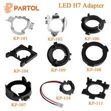 Partol adaptador LED H7 para Kia, BMW, AUDI A3, A4, VW, Golf, NISSAN, mercedes ben, Hyundai, Ford, Base de Clip de retención