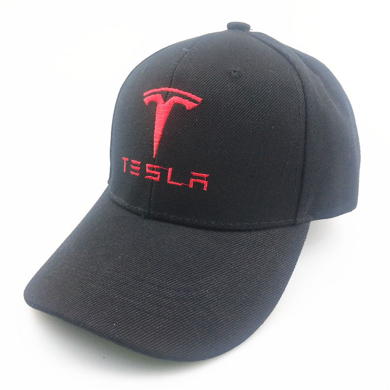 Unisex Cotton Car Logo Performance Baseball Cap Hat For Tesla Model 3 85 X Motorcycle Car Styling Accessories