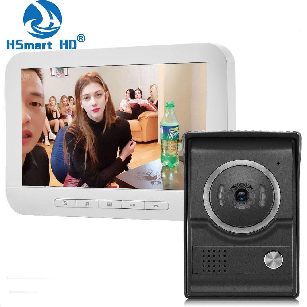 7 polegada vídeo porteiro telefone da porta hd sistema de câmera vídeo porta entrada painel intercom para privado casa chamada painel