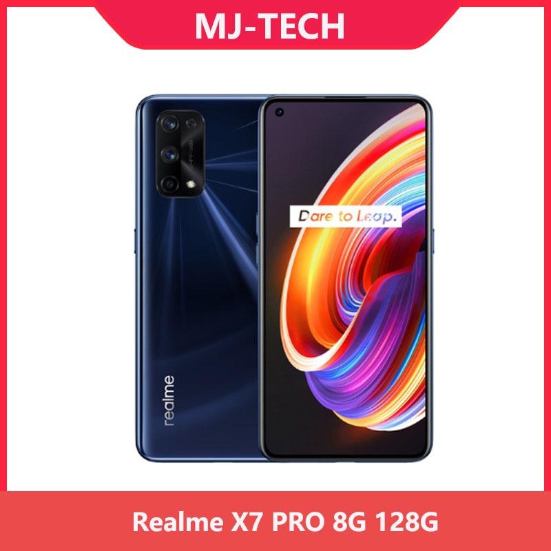Realme X7 Pro 8 ГБ 128 NFC 5G 6,55 дюймов 120 Гц активно-матричные осид, Экран 64MP Quad камеры 4500 мА/ч, 65 Вт быстро Зарядное устройство Dimensity 1000 мобильного телеф...