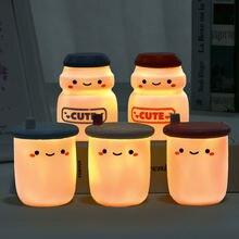 Творческий мультфильм милый светящийся светодиодный Ночной светильник