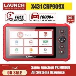 Launch X431 CRP909X Obd2 Scanner Full System Professiona Car Diagnostic Tool Automotive Code Reader Pk CRP909 MK808