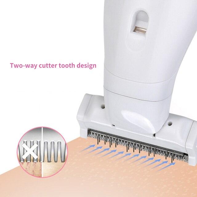 Multifunction Women Hair Removal Electric Epilator Female Shaving Machine Mini Shaver Trimmer Razor for Eyebrow Underarm 4