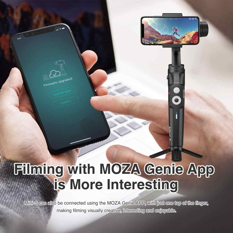Mũ Bảo Hiểm Moza Mini S Có Thể Gập Lại 3 Trục Gimbal Ổn Định Cho IOS10.0 iPhone Android 8.1 Điện Thoại Thông Minh GoPro 5/ 6/7