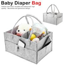 Baby Diaper Bags Large Capacity Bag Organizer Felt for Mom Durable Mummy Nappy Storage Handbags