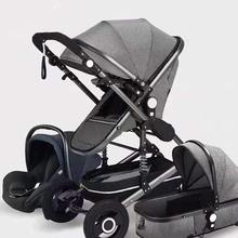 Wózek spacerowy dla noworodka wózek dla dziecka wózek wysokiego krajobrazu wózek dla dziecka wózek spacerowy Coche De wózek podróżny dla dziecka BA60TC tanie tanio oeny CN (pochodzenie) 0-3 M 4-6 M stroller Numer certyfikatu Llghtweight Stroller Baby Stroller 3 in 1 Free Shipping