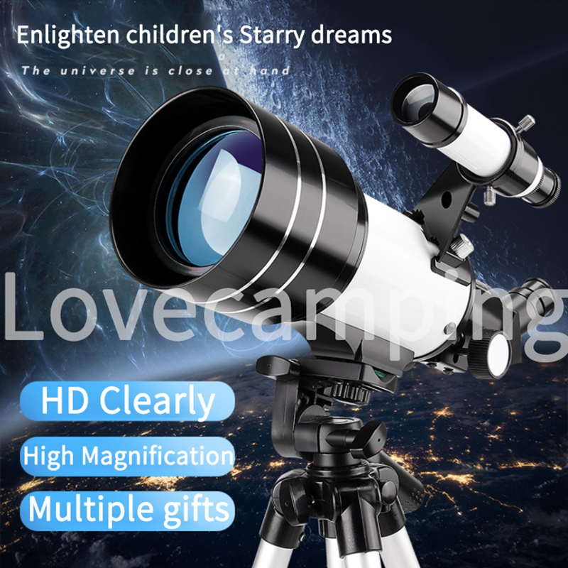 HD Professional Astronomical Telescope with Adjustable Portable Tripod and phone holder 1