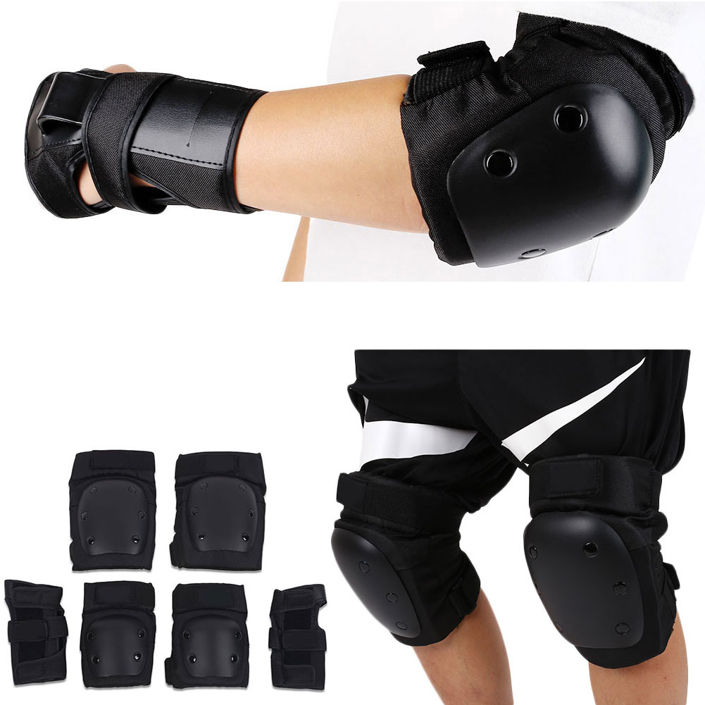 6Pcs/Set Skating Protector Skateboarding Kneecap Hand Guard Sport Street Protective Gears Pads Protection