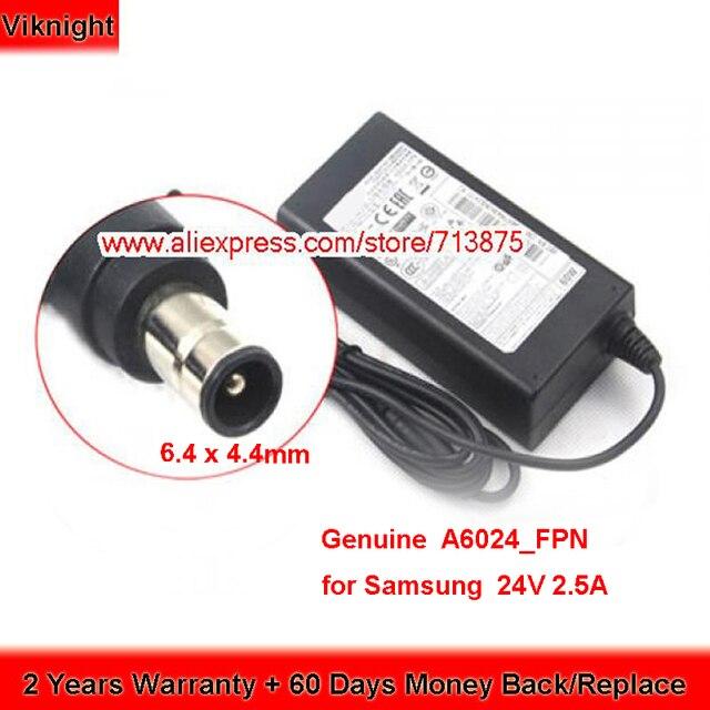 Chính Hãng 24V 2.5A A6024_FPN AC Adapter Dành Cho Samsung Soundbar BN44 00799A HW E550 HW J355 HW J450 HW F550 HW H551 HW J550 PS J650