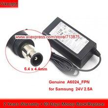 Orijinal 24V 2.5A A6024_FPN AC adaptörü için Samsung Soundbar BN44 00799A HW E550 HW J355 HW J450 HW F550 HW H551 HW J550 PS J650