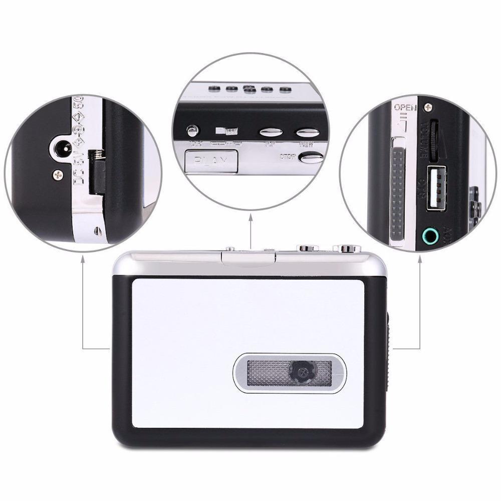 Cassette Player USB Walkman Cassette Tape Music Audio Recorder MP3 Converter Player Save MP3 File to USB Flash/USB Drive 4
