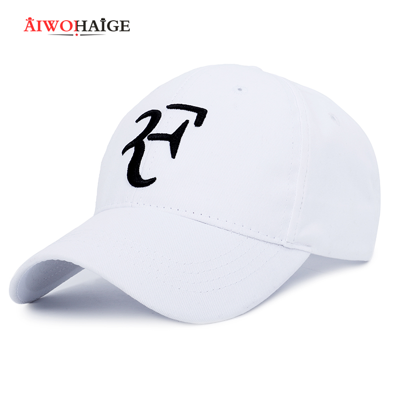 Roger Federer RF Men   Baseball     Caps   Cotton casual hip-hop   cap   Adjustable sports hat