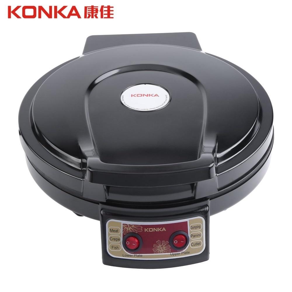 Plaque chauffante électrique chaude KONKA et support double face chauffage poêle à frire pour ménage BBQ frit ue Plug 220V friteuse