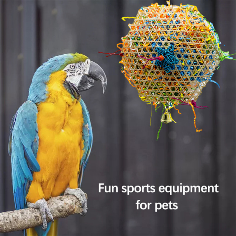 Bird Toys Large For Parrot Conure Accessories Perch And Budgie Parakeet Toy Supplies Cage Decoration African Grey