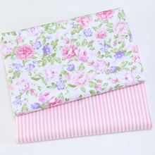 Floral Printed Cotton Twill Fabric Textile Patchwork Crafts DIY Sewing Quilted Fat Dormitory Baby Clothing