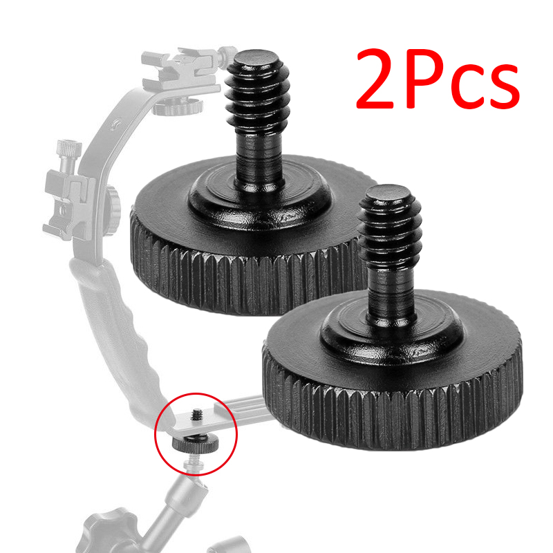 Thumb Screw Camera Quick Release 1//4 inch Thumbscrew L Bracket Screw Mount Adapter Bottom 1//4 inch-20 Female Thread Pack of 2