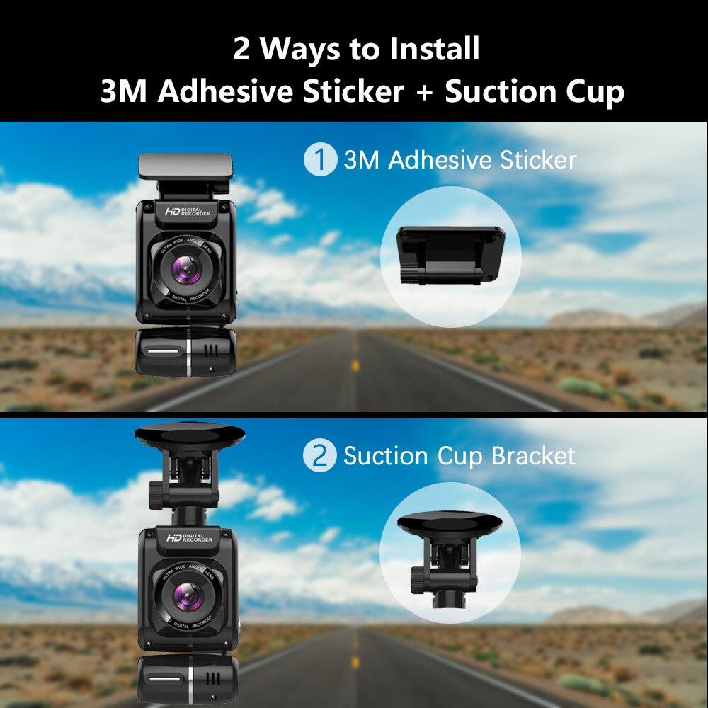 Image 2 - Mini Hidden 4K 2160P Dual Lens Car DVR WIFI GPS Logger Novatek 96663 Chip Sony IMX323 Sensor Dual Camera Dash Cam Recorder D20-in DVR/Dash Camera from Automobiles & Motorcycles