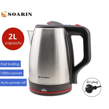220V Kettle 2L Stainless Steel Electric Kettle 1500w Water Boiler Kettle Quick Heating Auto Power-off Protection Kitchen Home
