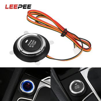 LEEPEE 12V Car Engine Start Stop Push Button Keyless Entry Ignition Starter Switch Auto Replacement