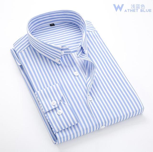 Zogaa Shirt Men 2018 New Striped Long Sleeves Mens Dress Shirts Camisa Masculina Spring Summer Brand Casual Male Shirt Tops 3XL