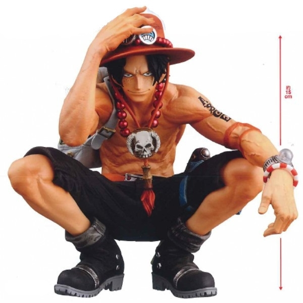2019 New Anime One Piece 16cm King Of Artist Portgas D Ace Figurine Pvc Action Figure Collectible Brinquedos Model Toy Doll image