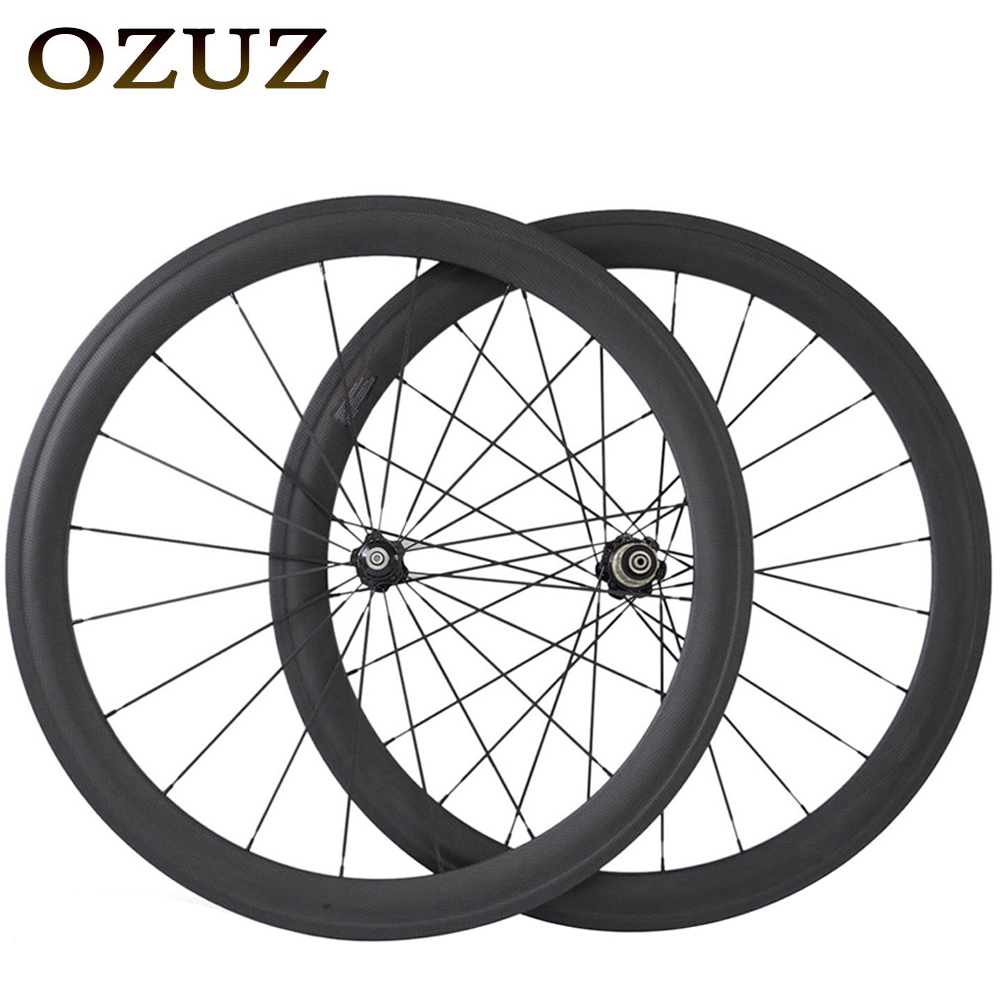 OZUZ low price 38mm deep Carbon Wheels 23mm Wide Clincher Wheelset Novatec hub standard 3K Matte 700c road bike wheelset pair