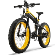 1000W Electric Mountain Bike 26 inch 21 Speed with 48V 13AH Hidden Battery Shimano 27 Full Suspension Snow Folding