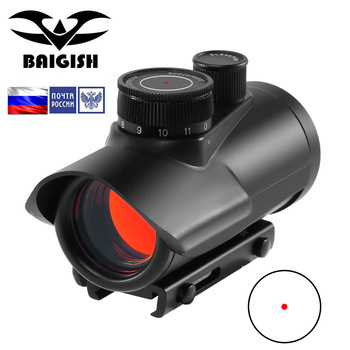 BAIGISH  Red Dot Sight Scope Holographic 1x30mm 11mm & 20mm Weaver Rail Mount for Tactical Hunting Optics luger red dot sight hunting scope tactical optics reflex sight riflescope fit 20mm weaver rail for airsoft scope hunting gun