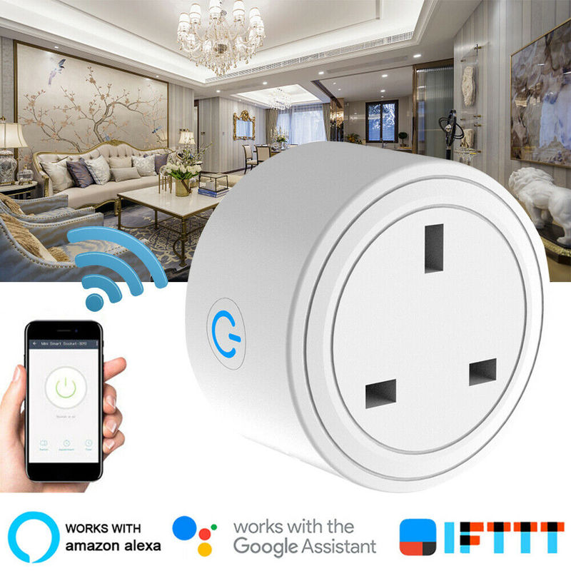 1 2 4PC Smart Plug Wifi Smart Socket Basic Phone Remote Control Adapter Smart Life App UK Plug Work With Alexa Google Home IFTTT