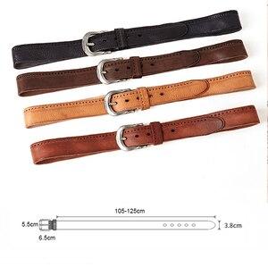 Image 3 - MEDYLA Vintage orijinal deri kemer erkekler için yüksek kaliteli doğal deri hiçbir ara katman erkek kemer kot rahat pantolon