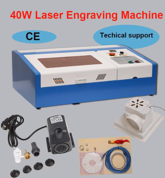 Laser Engraving Machine 40W CO2 LASER Engraver USB Port For Acrylic, Wood, Other Materials
