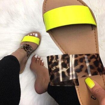 Sandalias de moda para mujer, sandalias romanas con estampado de leopardo, Sandalias planas con doble correa de gran tamaño, Aike Asia