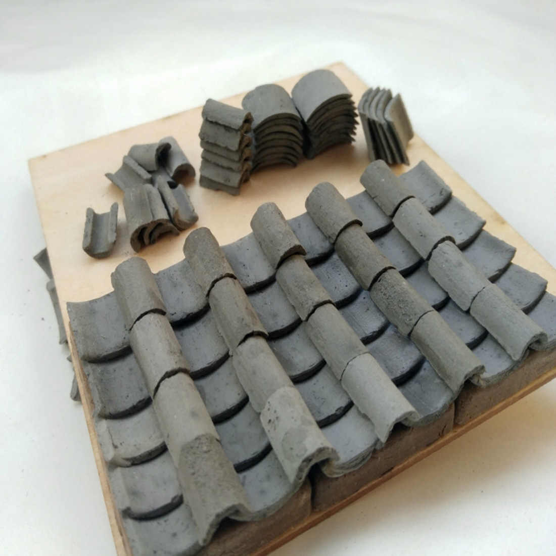 20Pcs 1:16 Simulation Bricks Model Mini Bricks For DIY Sand Table Scenery Building - Cyan
