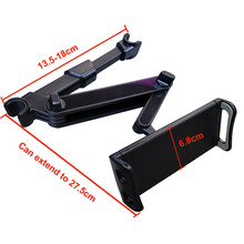 Flexible 360 Degree Rotating for iPad Car Pillow mobile Phone Holder Tablet Stand Back Seat Headrest Mount Bracket 5-11 Inch