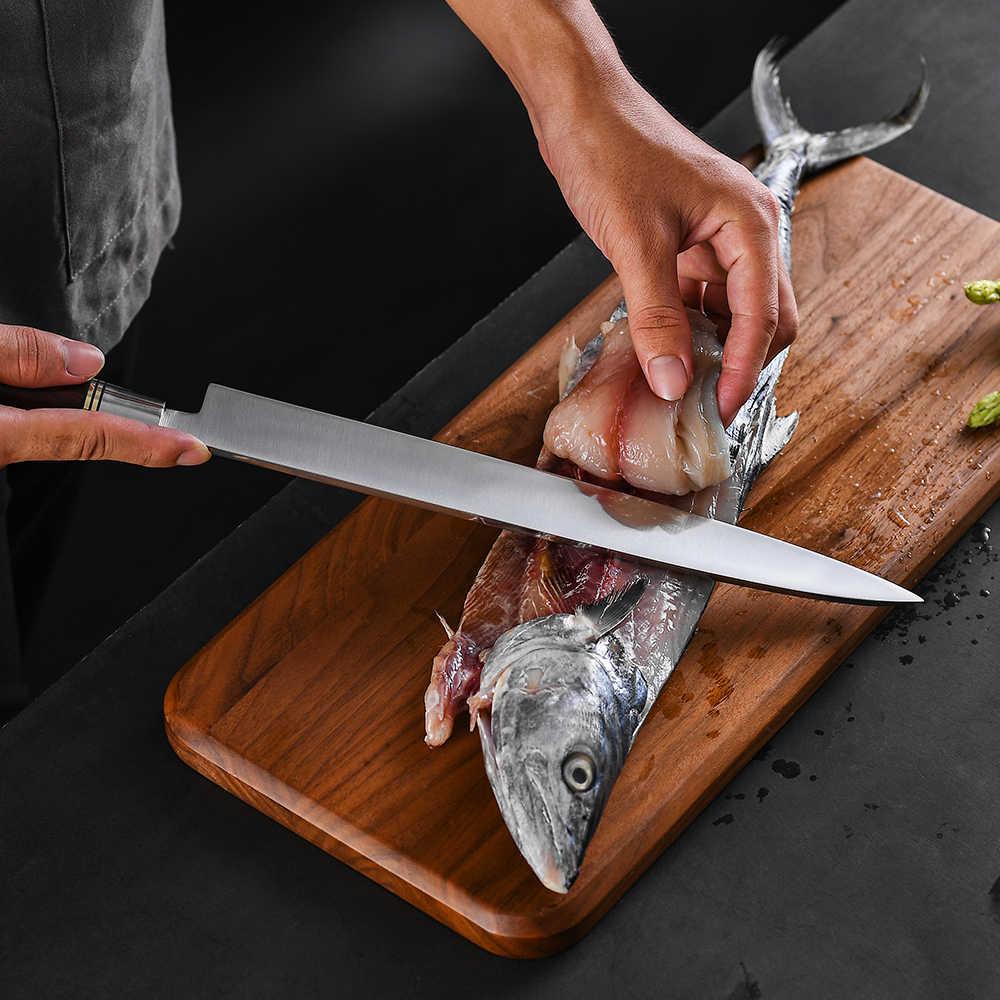 Hot Sale 12 polegada Japonês Sushi Yanagiba Faca Chef de Cozinha Facas de Sashimi  Salmão Alemanha 1.4116 Aço Faca De Pesca Japão|Facas de cozinha| -  AliExpress