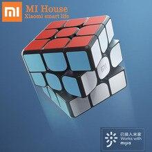 Оригинальный Умный кубик Xiaomi Mijia Bluetooth5.0, магнитный кубик, квадратный магический куб, головоломка, научное образование, работает с приложением Mijia