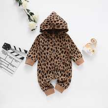 Infant Baby Clothing Romper Spring Zipper 0-3-Years Hood Autumn Open-Chest Long New